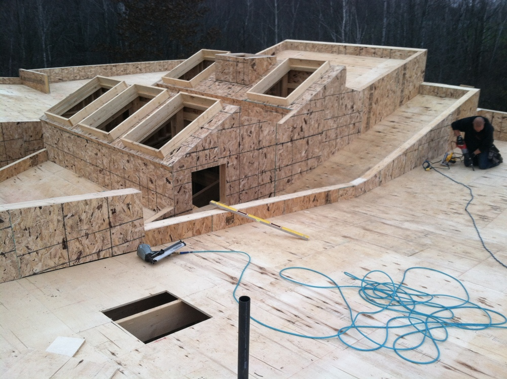 Framing Part 5 - Skylights, Columns & Overall — Stone Tent Architecture
