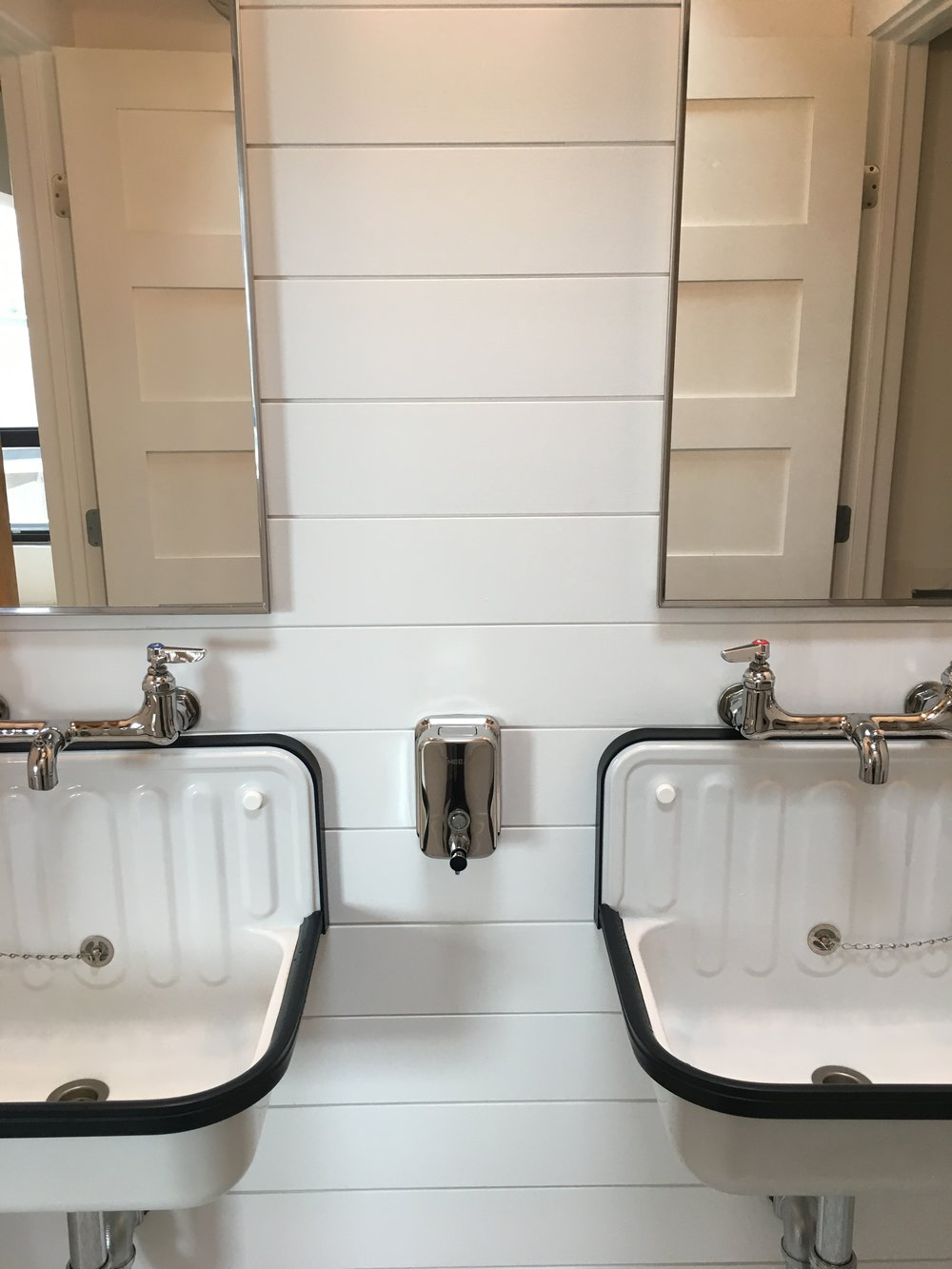 Wall Mounted Soap Dispenser and Wall Mounted Mop Sink Faucets