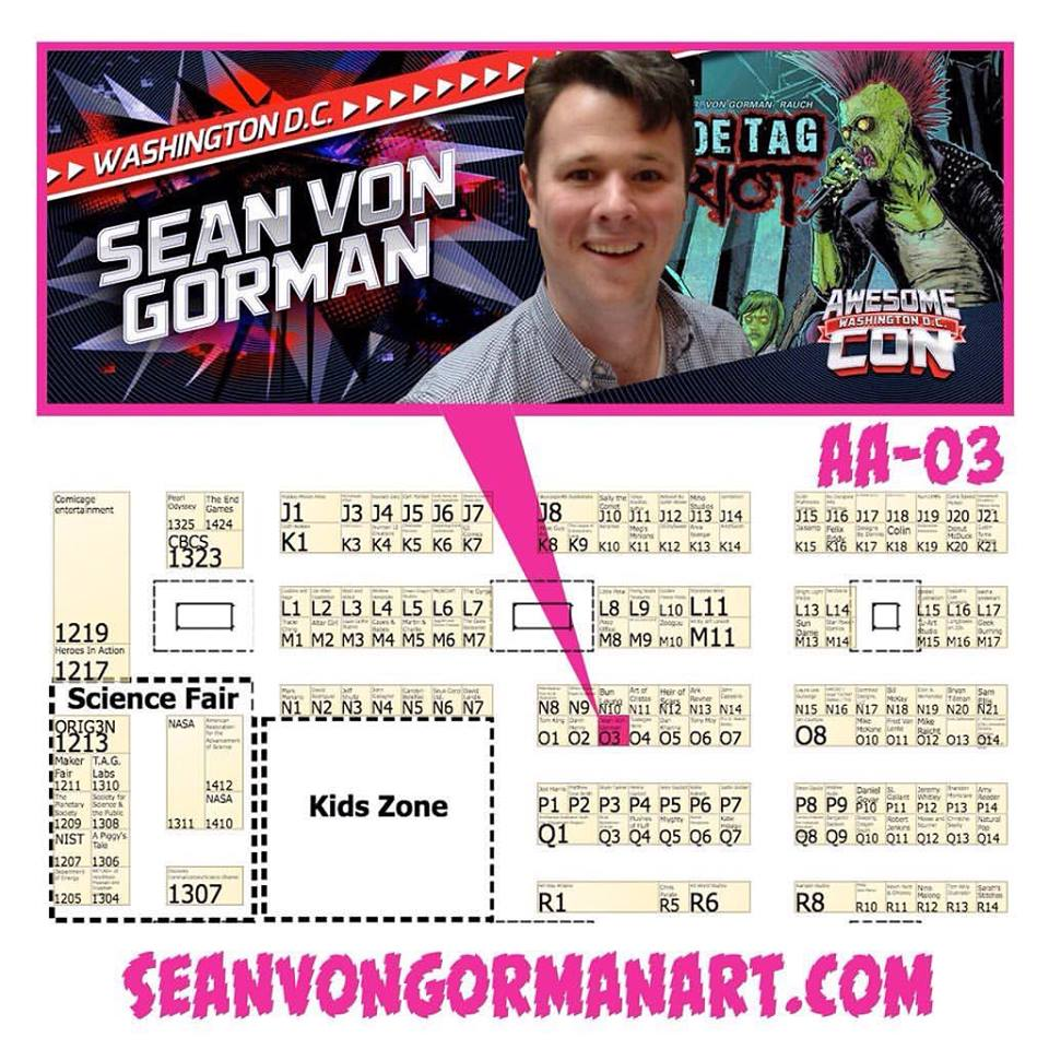 This weekend I will be returning to Awesome Con! I will be at table AA-O3 all weekend! I'll have Books, Prints, and taking Commissions! On Saturday come and catch me at the Kickstarter Do's and don't Panel with my buddy Rafer Roberts!