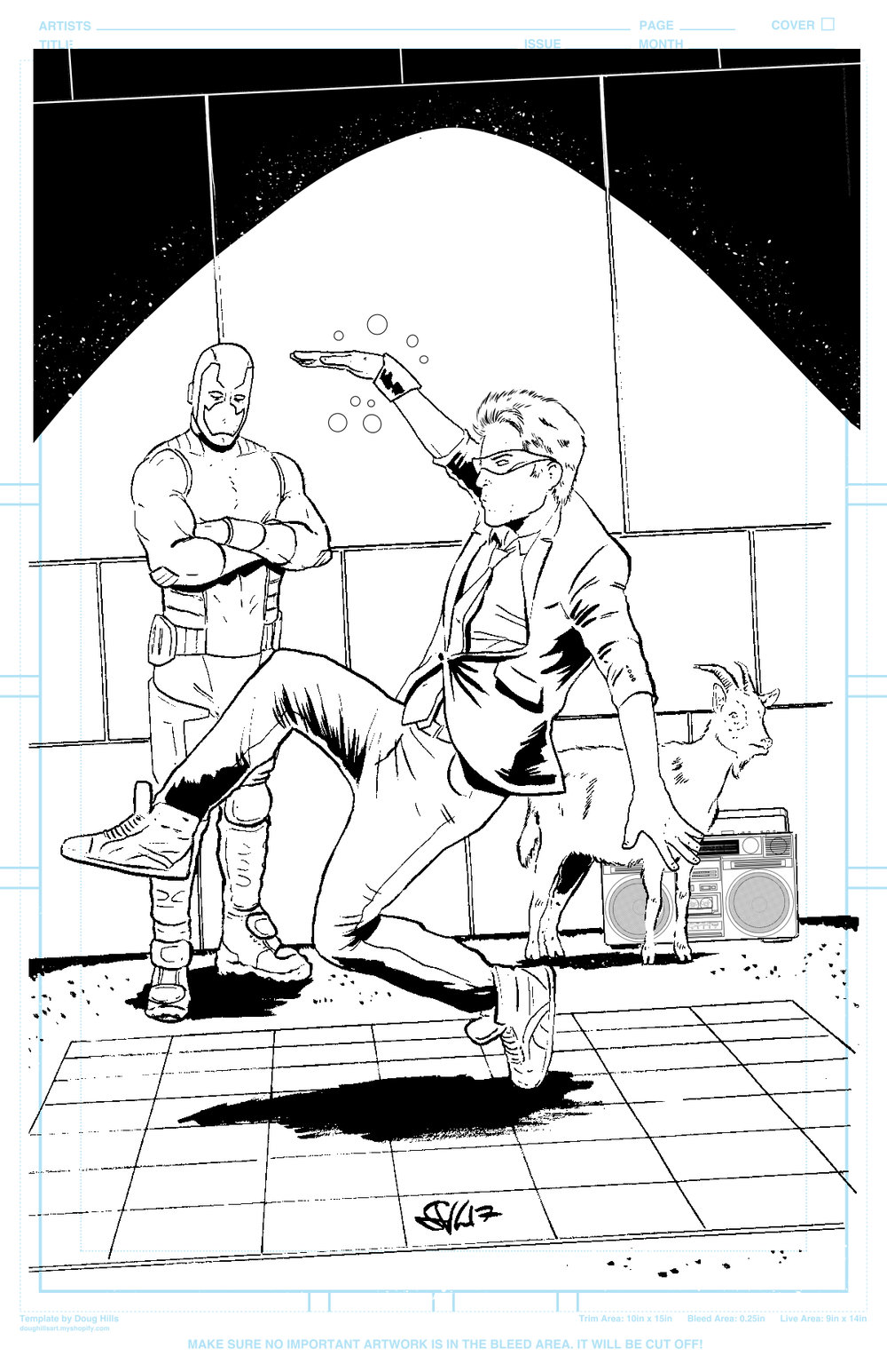 Quantum And Woody Splash line art.jpg