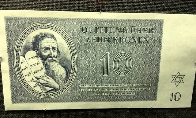 "Nazi Germany ""Jewish"" banknote. (Stockholm Coin Museum)"