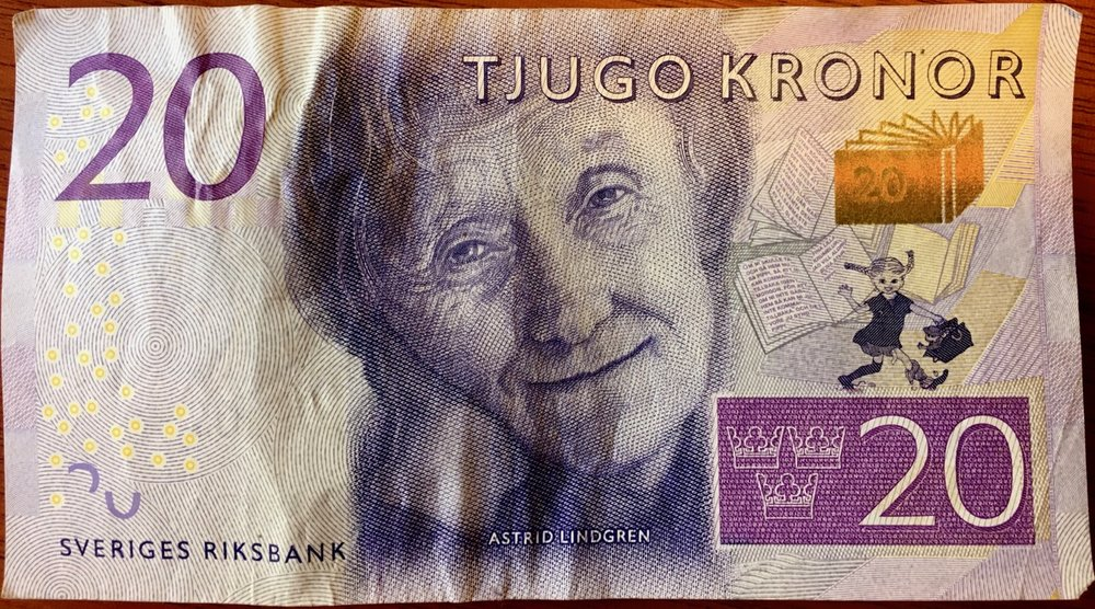 In my wallet, alone forever. Astrid Lindgren on money is pretty awesome, tho.