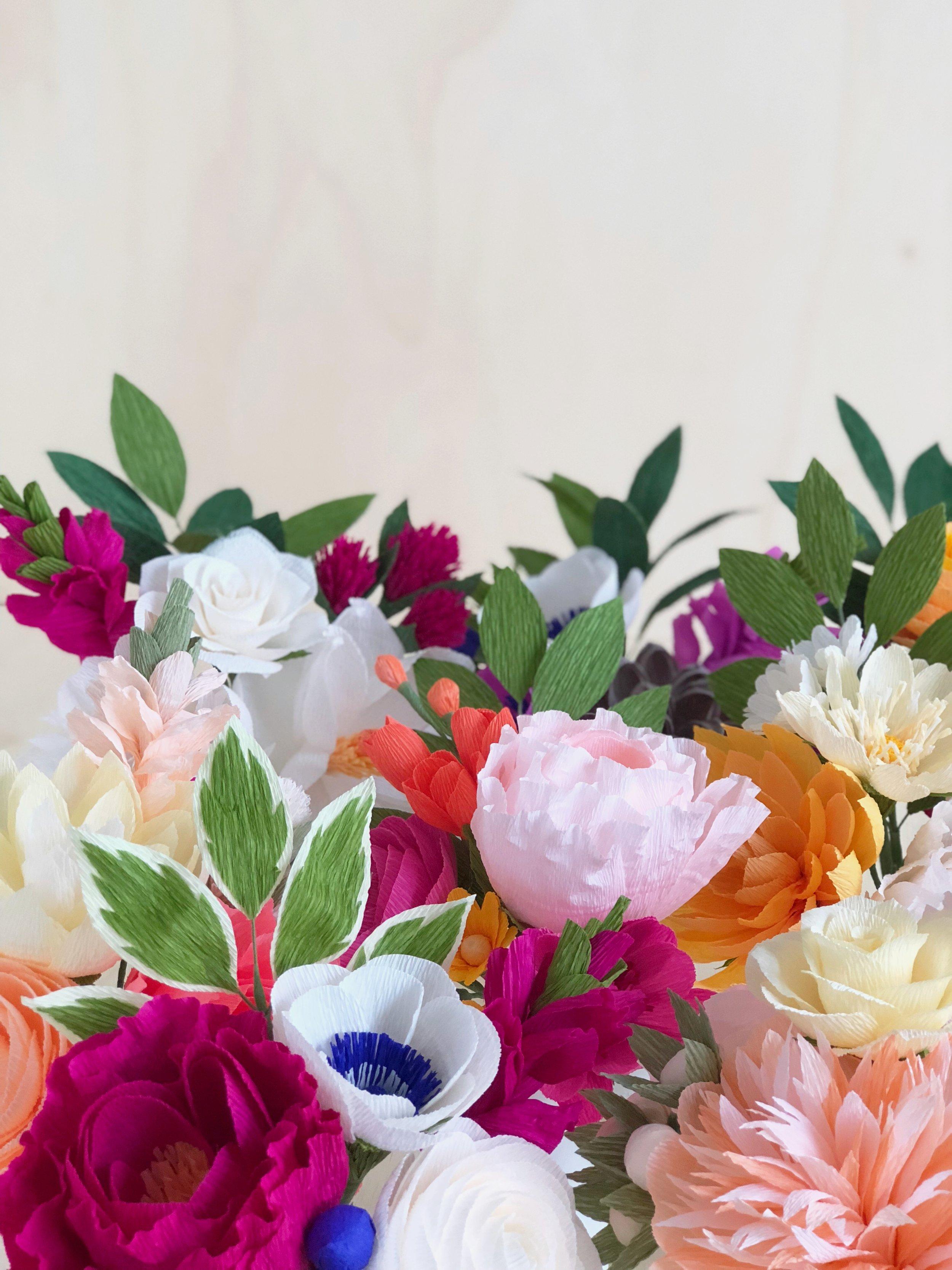 Paper Flowers Build Your Own 3 Stem Bouquet Amaranthus Paper Flora