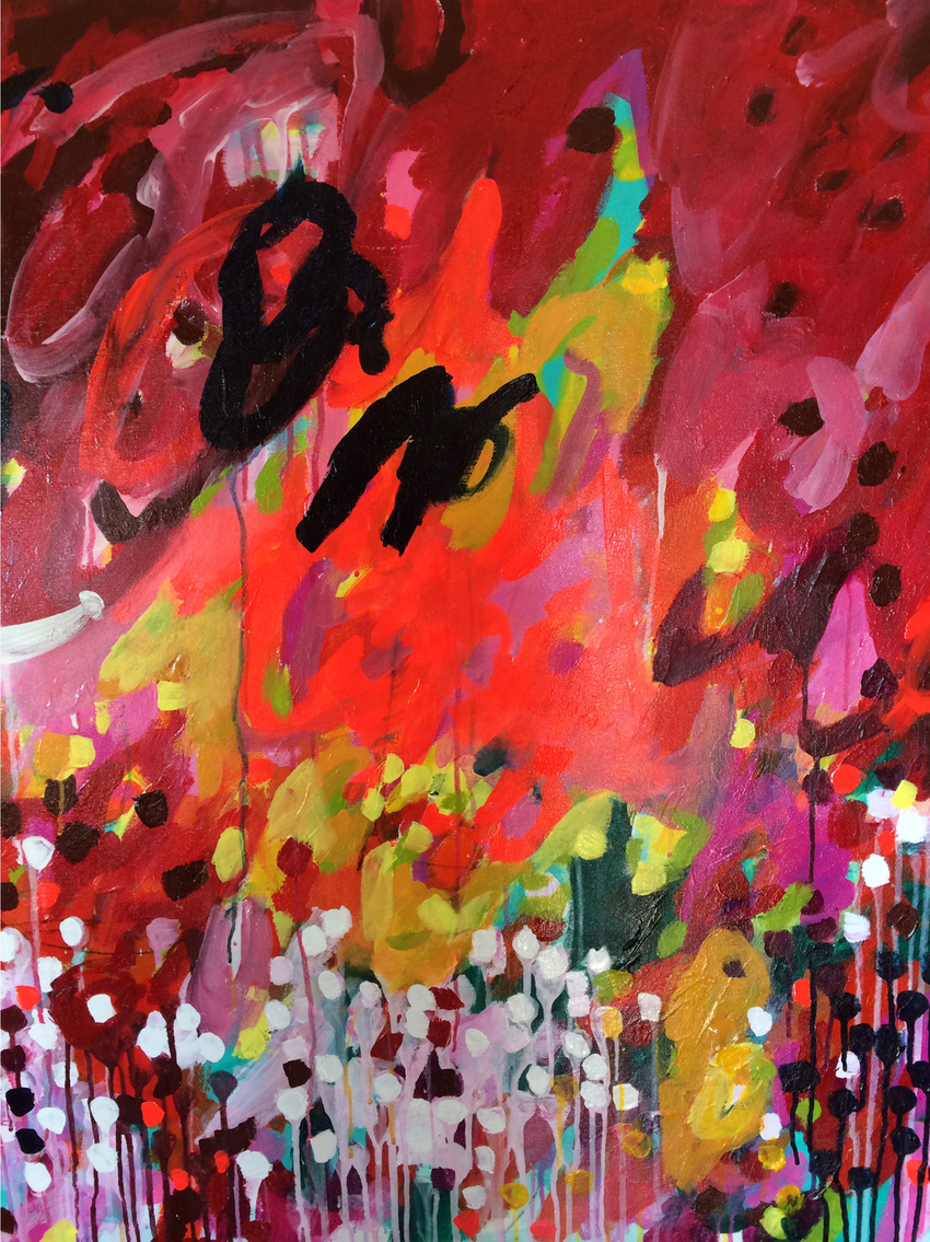 Kelly Degnan - firework, acrylic on canvas, 2015