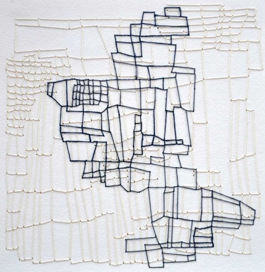 Erica Green - fragment #8, thread on paper, 2015