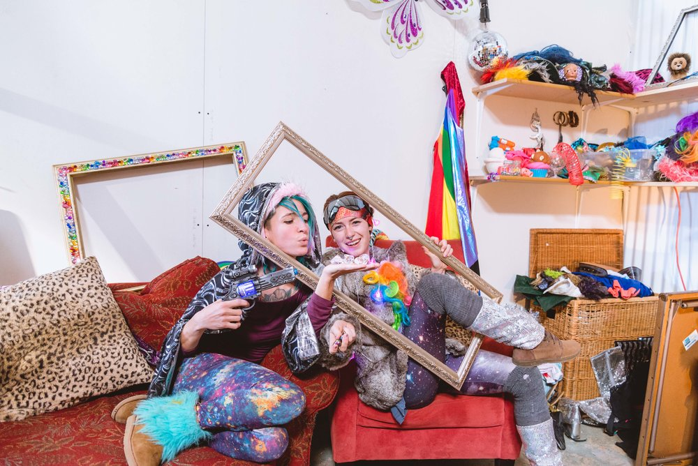 Pony and Cosmic,  painters & performance artists  - From Baltimore, MD