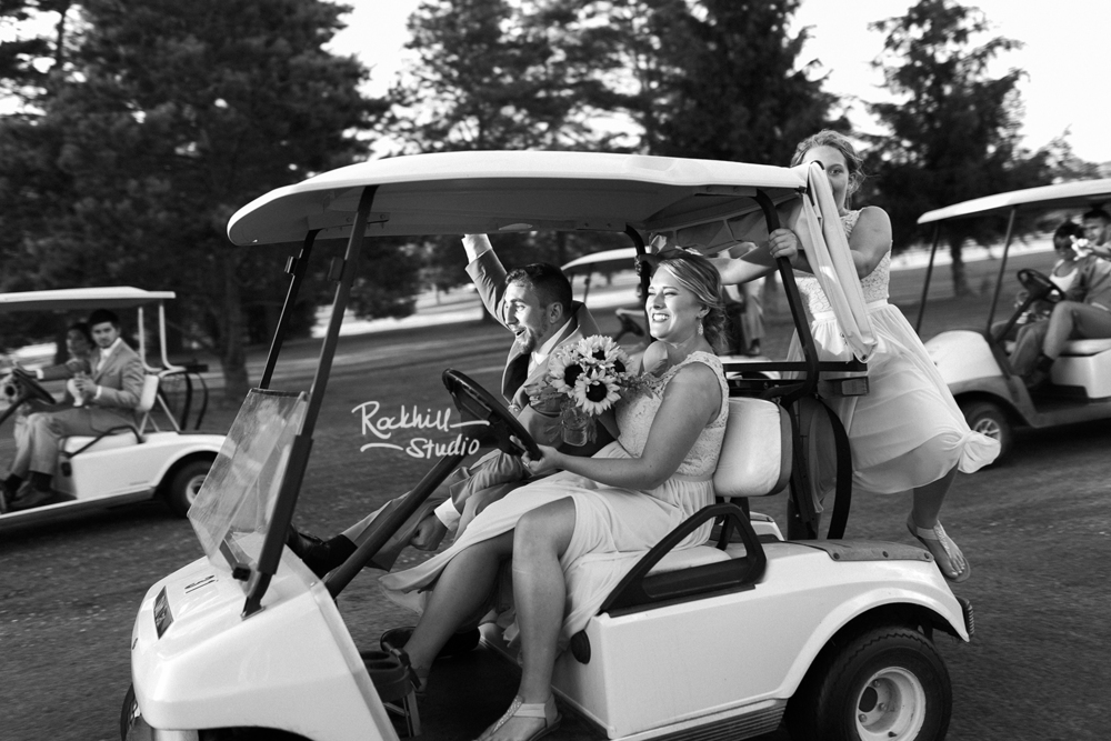 traverse city wedding photographer golf course reception