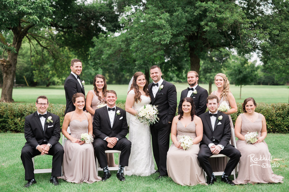 traverse city wedding photographer large classy wedding party