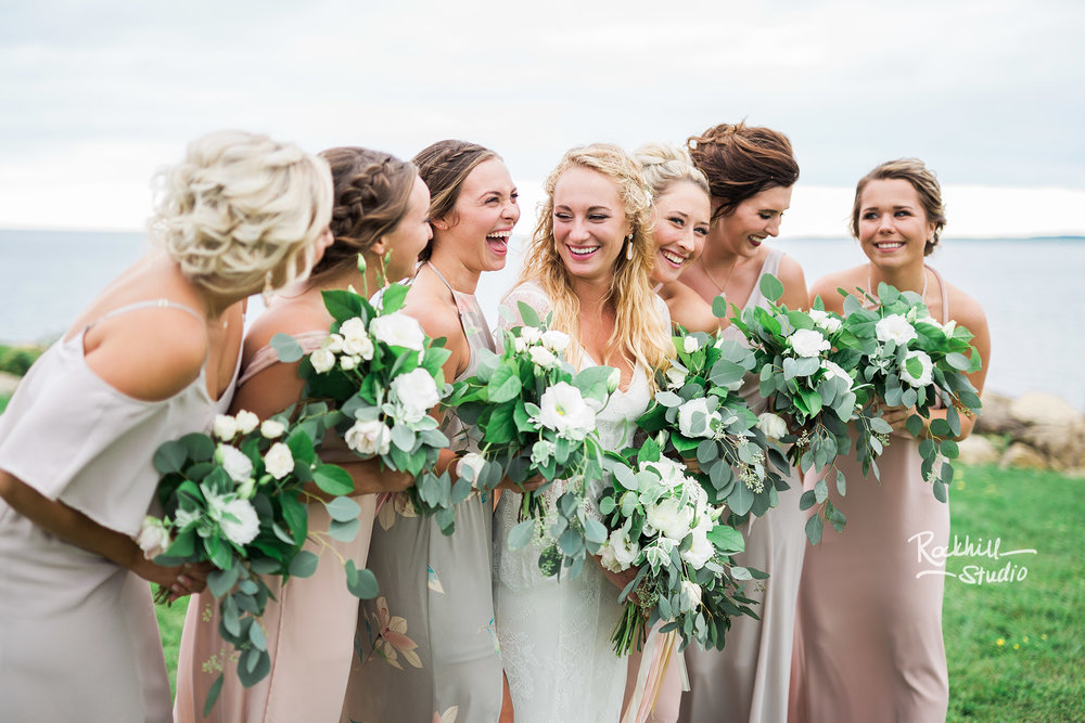 traverse city wedding photographer bride with bridesmaids 1