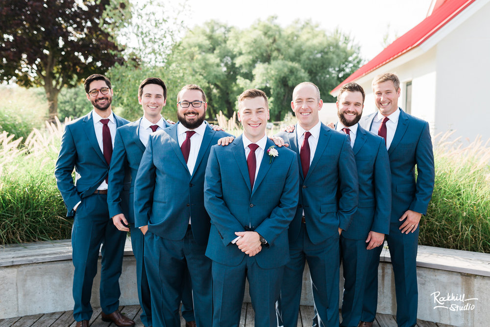 Northport michigan groomsmen, traverse city wedding photographer rockhill studio