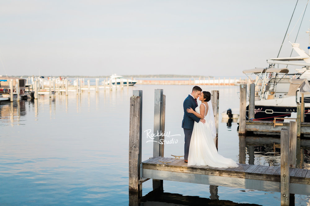 Northport wedding, bride and groom portrait, Traverse city wedding photographer Rockhill Studio