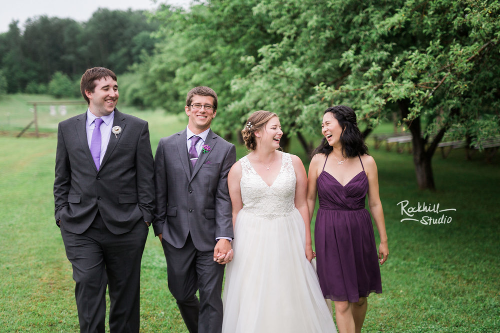 Belsolda Farm wedding, wedding party, Marquette MI, Traverse City wedding photographer Rockhill Studio