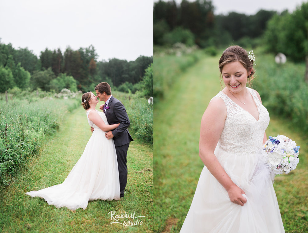 Belsolda Farm wedding, bride and groom, Marquette MI, Traverse City wedding photographer Rockhill Studio