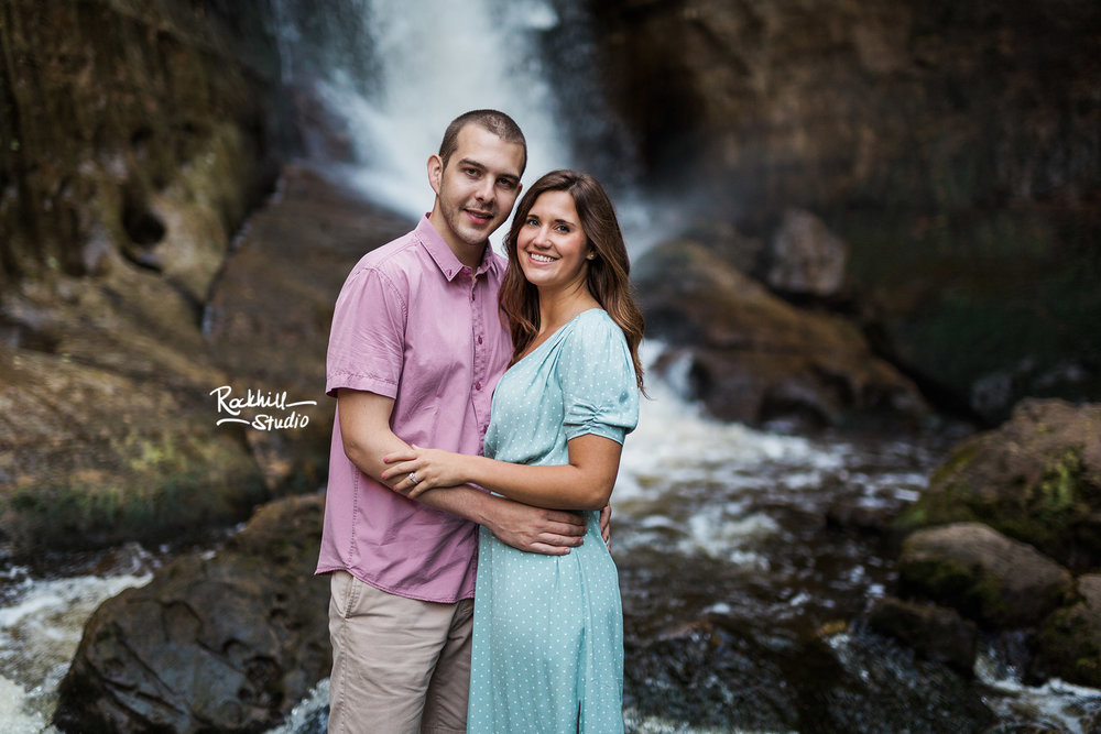 Northern Michigan engagement, pictured rocks waterfall, traverse city wedding photographer Rockhill Studio