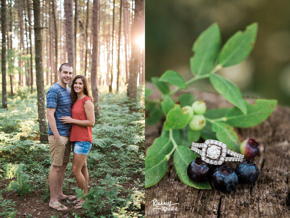 Northern Michigan engagement, pictured rocks miners beach, traverse city wedding photographer Rockhill Studio
