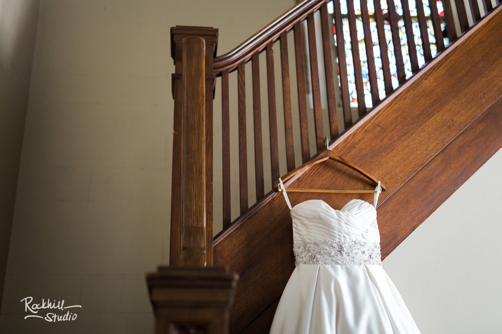 Grand rapids church wedding, wedding dress, traverse city wedding photographer Rockhill Studio