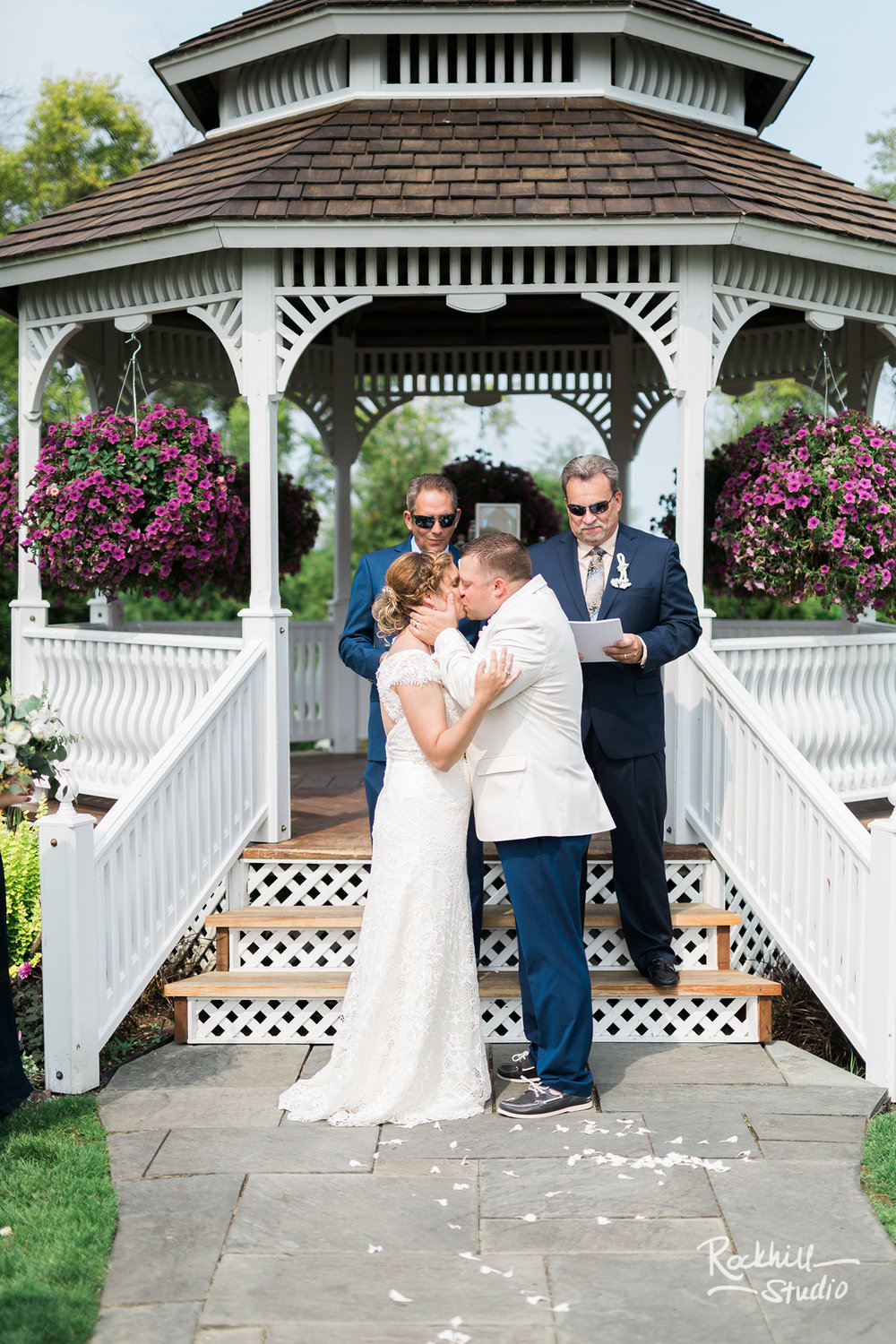 Mission Point Wedding, gazebo, Traverse City Wedding Photographer Rockhill Studio
