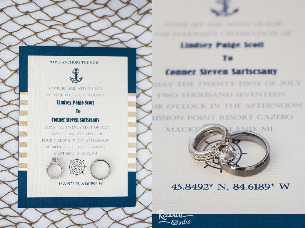 Mission Point Wedding, reception details, Traverse City Wedding Photographer Rockhill Studio
