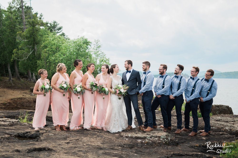 Wedding Party portraits, Traverse City wedding photographer Rockhill Studio