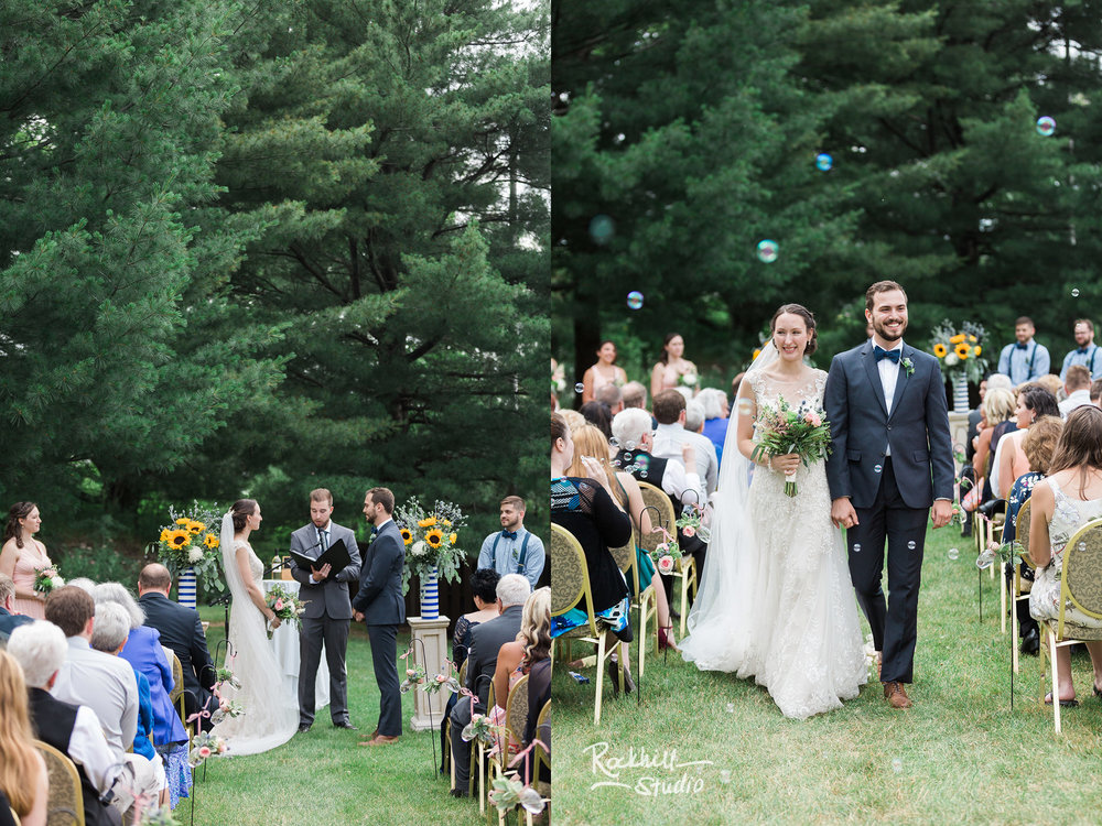 Wedding outdoor ceremony, Traverse City wedding photographer Rockhill Studio