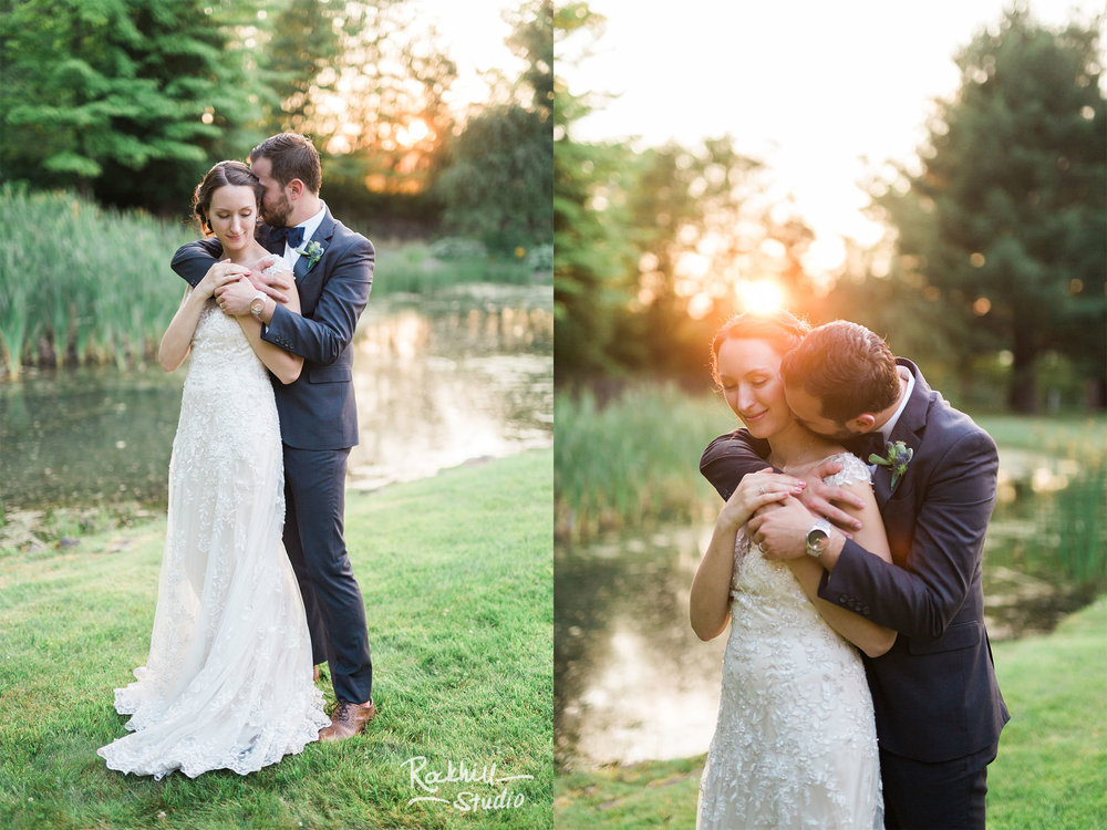 bride and groom portraits, Traverse City wedding photographer Rockhill Studio