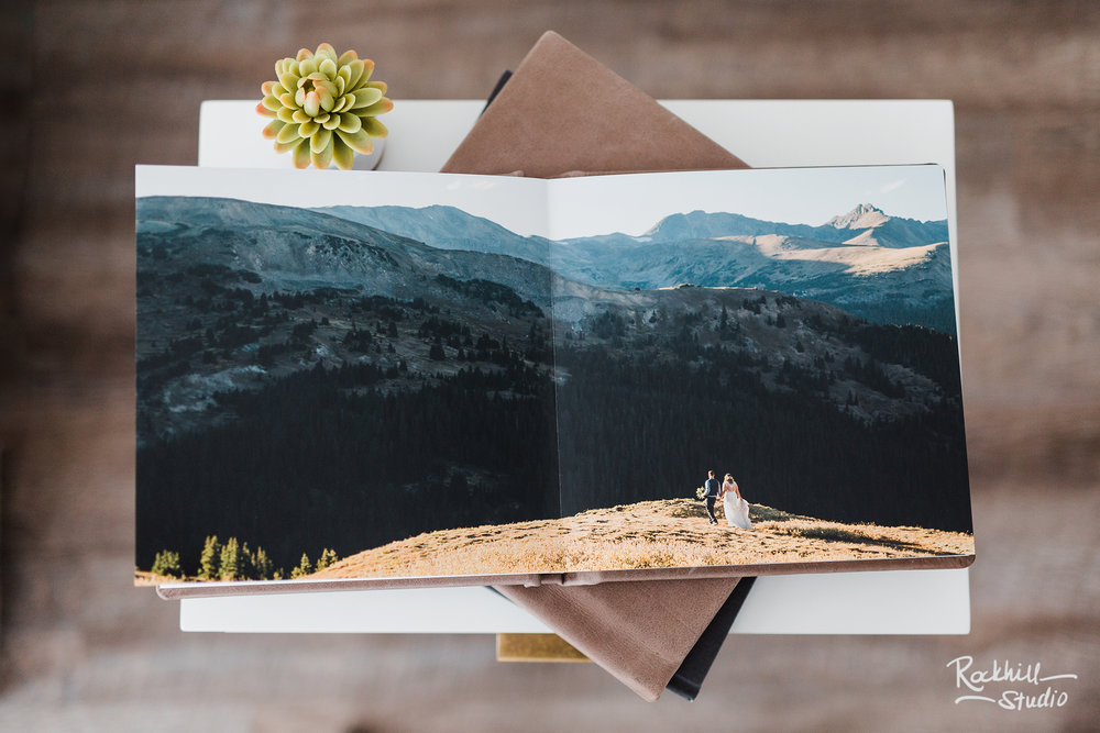Traverse City wedding photographer, layflat album options, Rockhill Studio