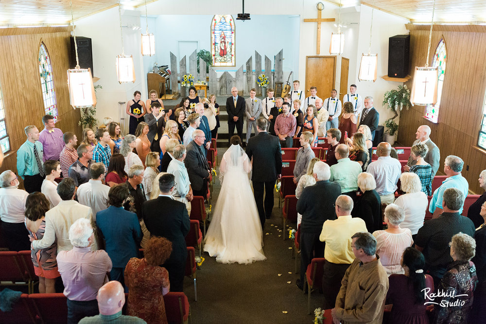 Drummond Island Church, ceremony details, Traverse City Wedding Photographer Rockhill Studio