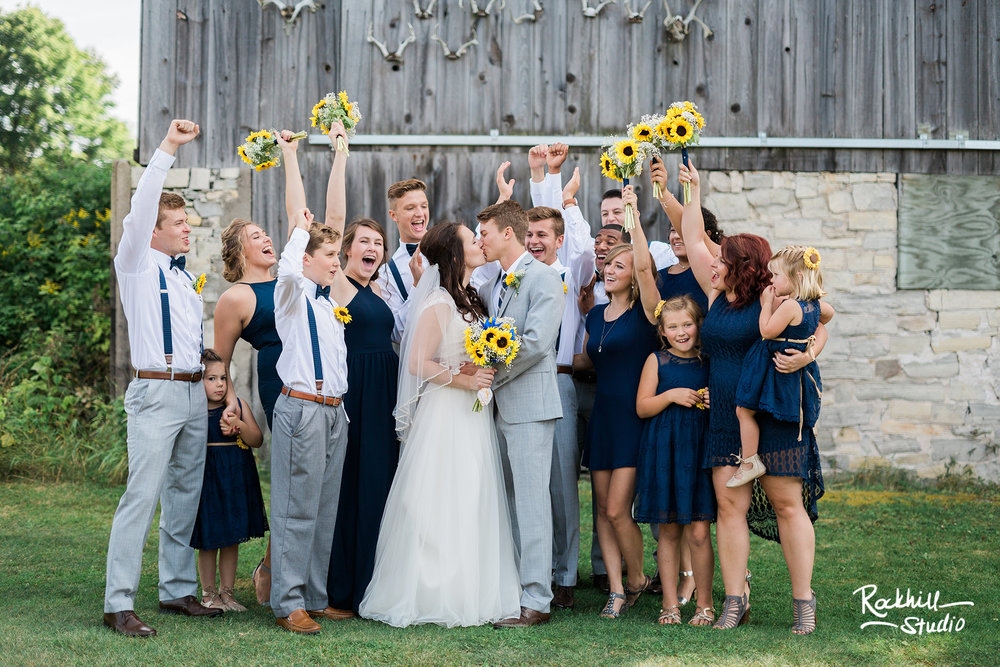 Drummond Island Church, wedding party portraits, Traverse City Wedding Photographer Rockhill Studio