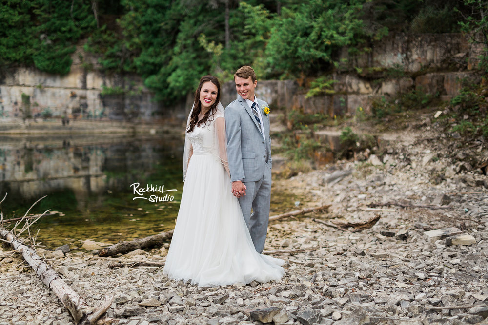 Drummond Island Church, bride and groom portraits, Traverse City Wedding Photographer Rockhill Studio