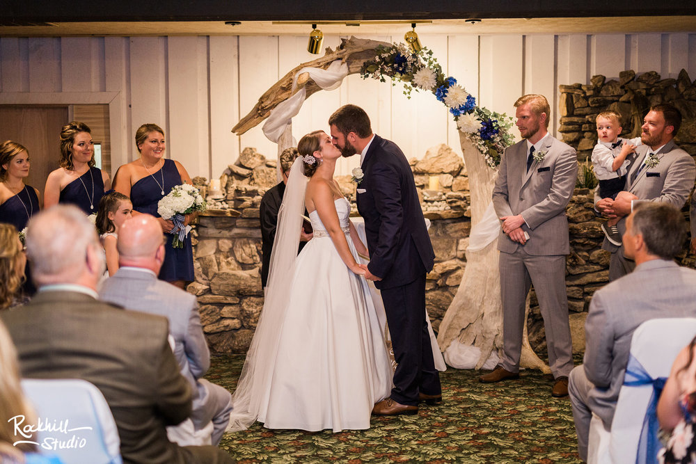 Traverse City Wedding Photography, indoor ceremony, Rockhill Studio, Escanaba