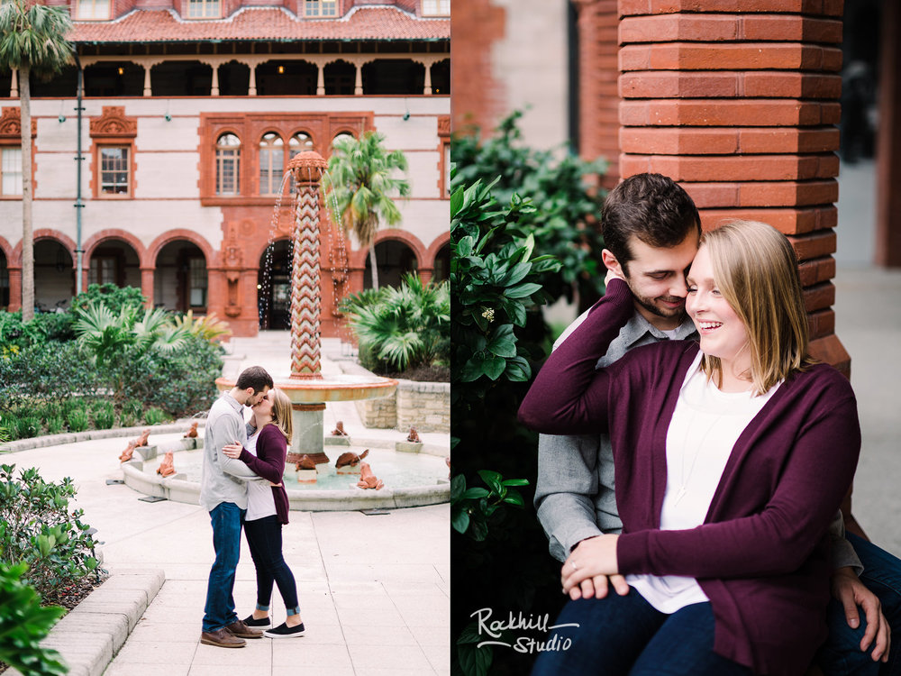 Traverse City wedding photographer, destination engagement St. Augustine, Florida beach