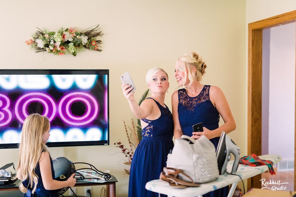Traverse City Wedding Photographer, bride getting ready, Rockhill Studio
