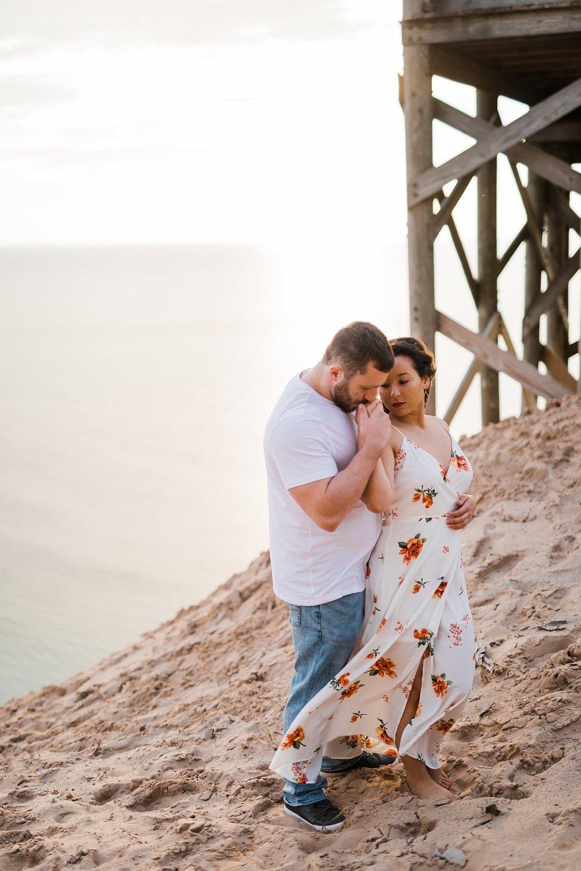Sleeping Bear Dunes Engagement, Traverse City Wedding Photographer Rockhill Studio