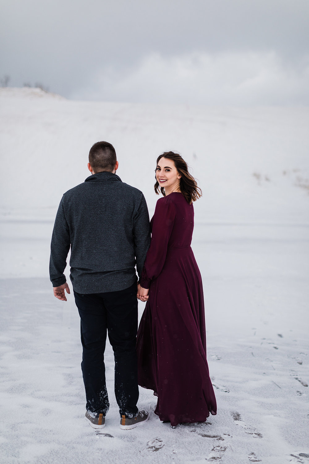 Sleeping Bear Dunes engagement session, Rockhill Studio, Michigan wedding photographer