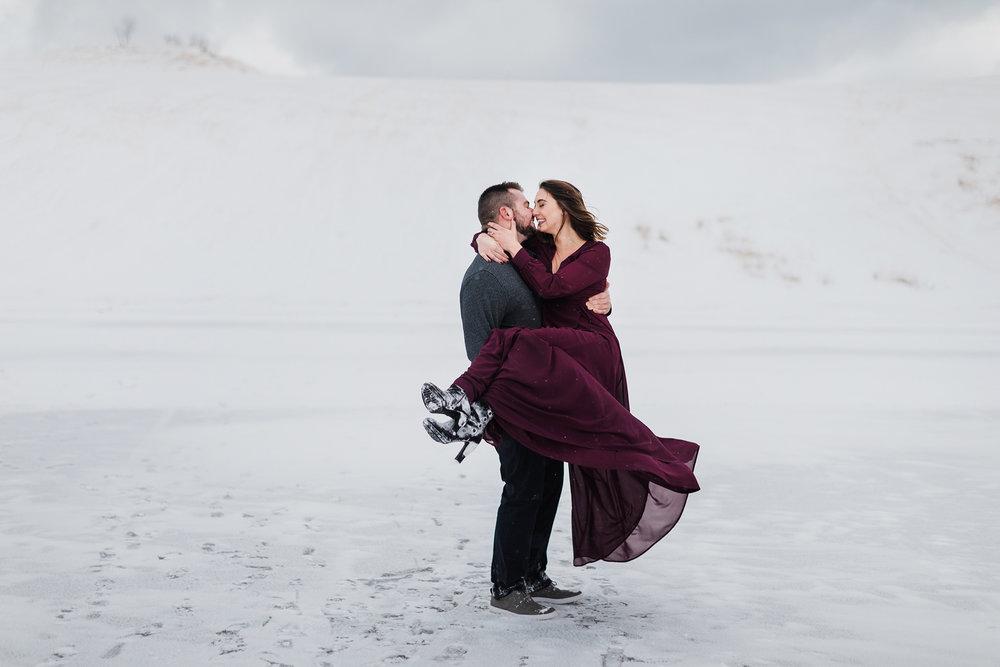 Sleeping Bear Dunes engagement session, Rockhill Studio, Michigan wedding photographer