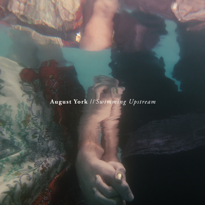 august york swimming upstream drums, percussion, synths, glockenspiel, electric guitar, acoustic guitar, high-strung acoustic guitar, piano, banjo