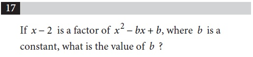 A classic College Board math problem testing algebraic thinking, sampled from the practice redesigned PSAT