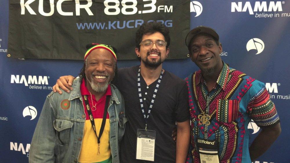 Leon Mobley, Eddie V. [KUCR], & Marcus