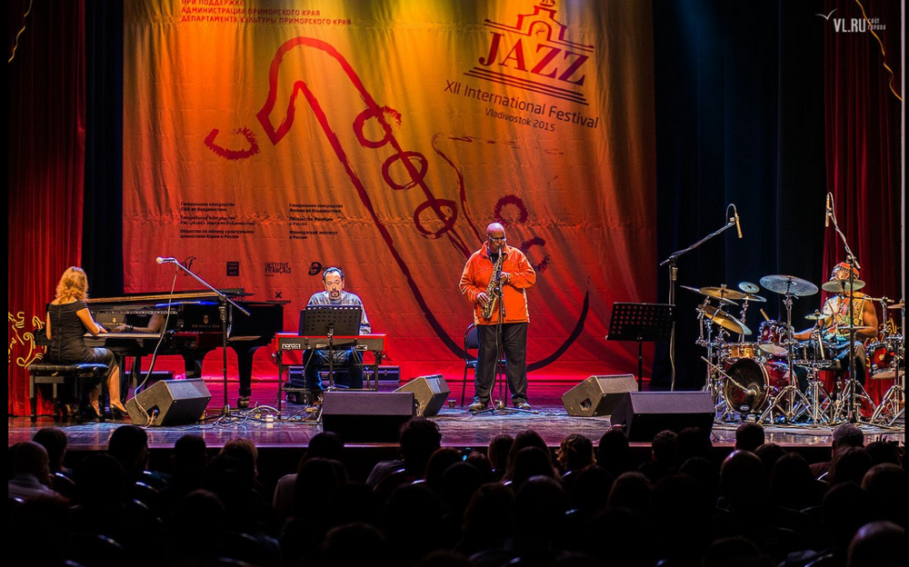 Marcus & his ensemble headlining the Vladivostock Jazz festival 2015