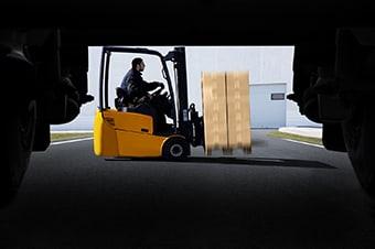 3G Logistics Christchuch | Freight Management | Man driving warehouse forklift