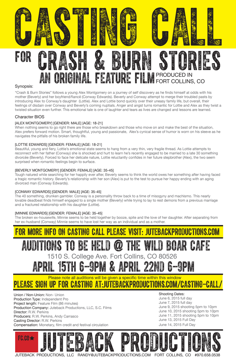 Crash & Burn Stories casting call poster .jpg