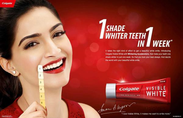 "My example of a ""white noise"" ad.  Get it?  Whitening toothpaste?  White noise?  Look at her face, she thought it was funny."