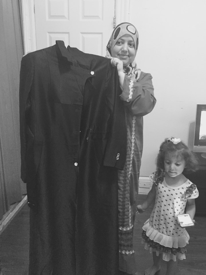 This black coat is the only article of clothing that survived the trip from Syria to the U.S.   Purvi Thacker/ BuzzFeed News