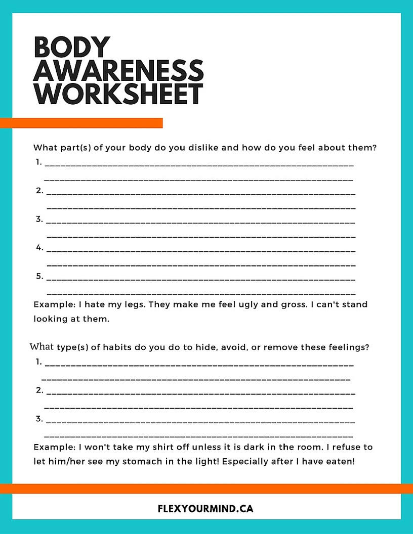 Body Image Worksheet Free Worksheets Library : Download ...