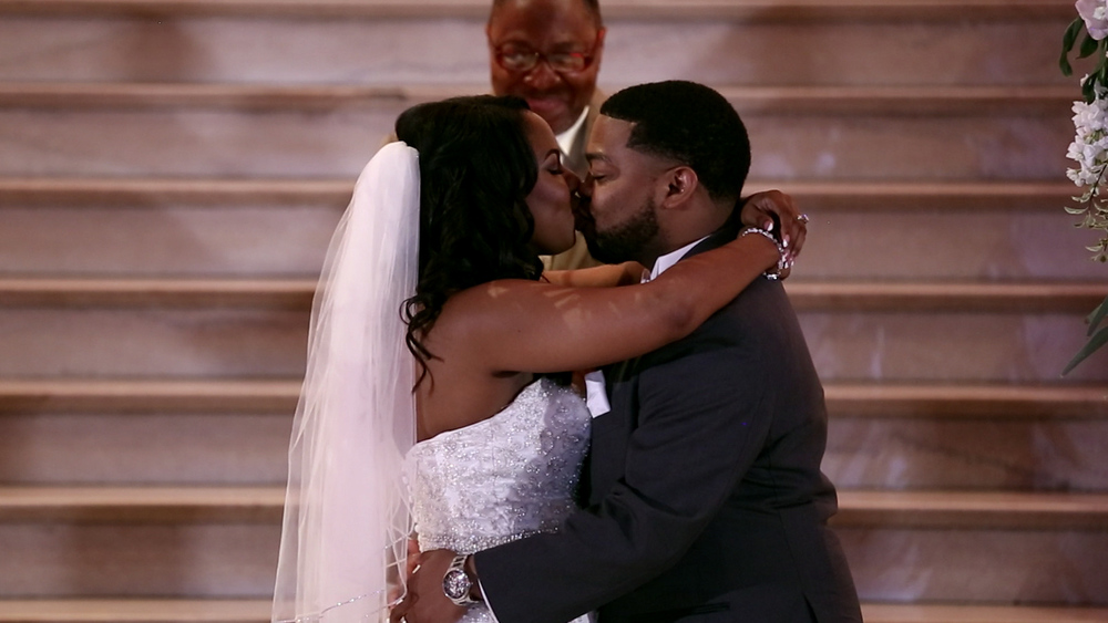 We loved their faces as they were announced as husband and wife for the first time!
