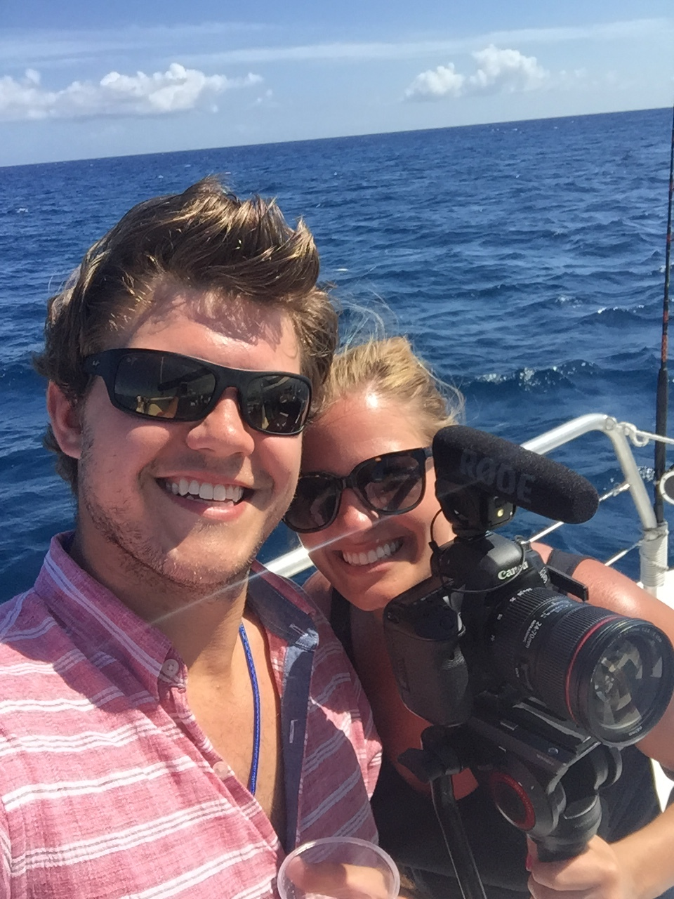 Brother/sister bonding on the boat in Mexico!
