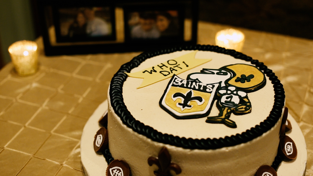 Who dat!  Groom's cakes are the best.