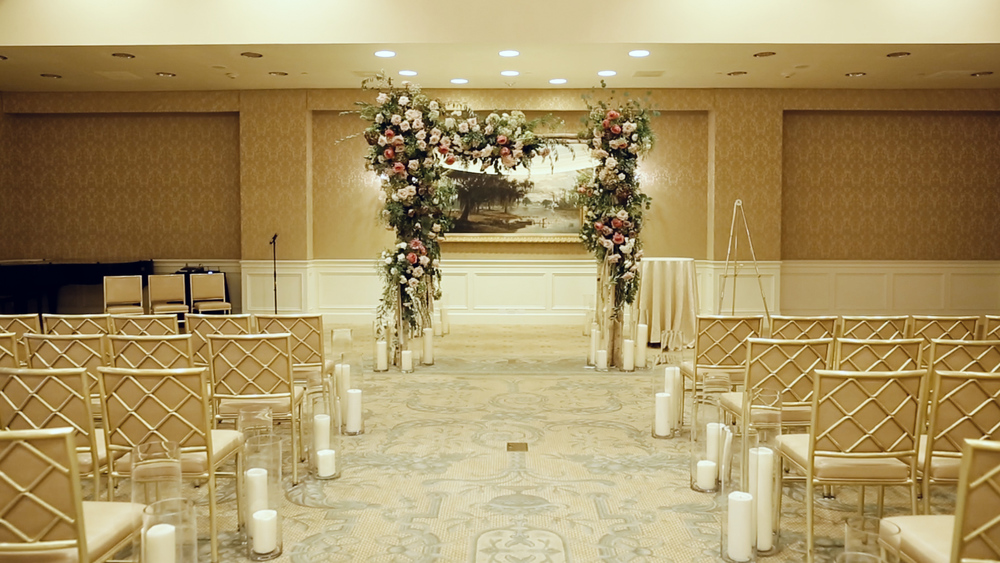 Bella Blooms created the perfect setting for an intimate wedding ceremony.