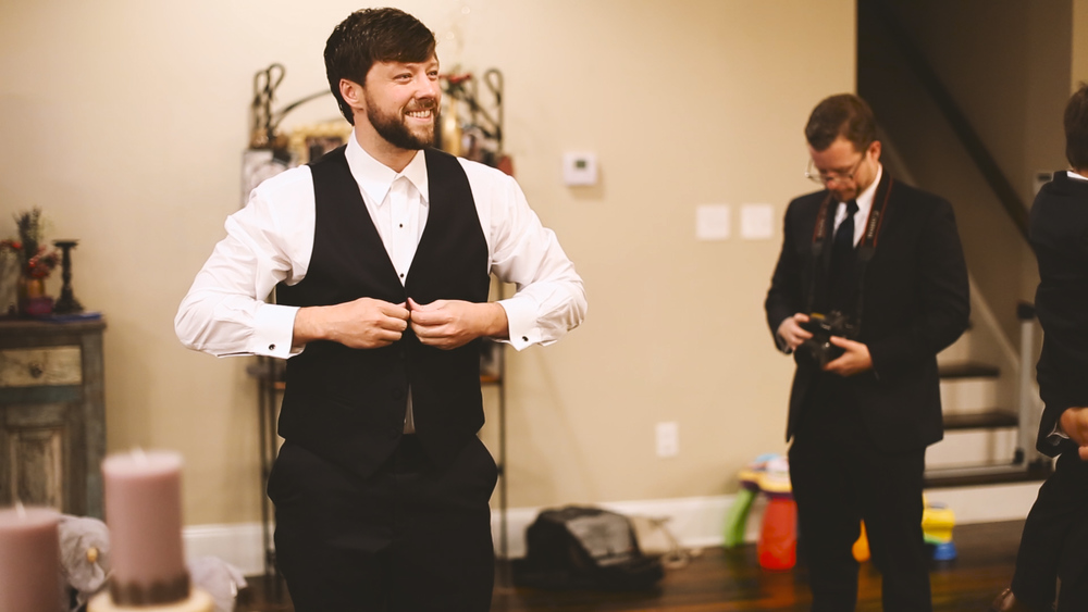 Our friend, Collin, played groomsman/photographer for the day ;).