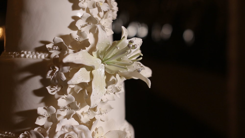 The cake's details by Zoey's Bakery were exquisite.